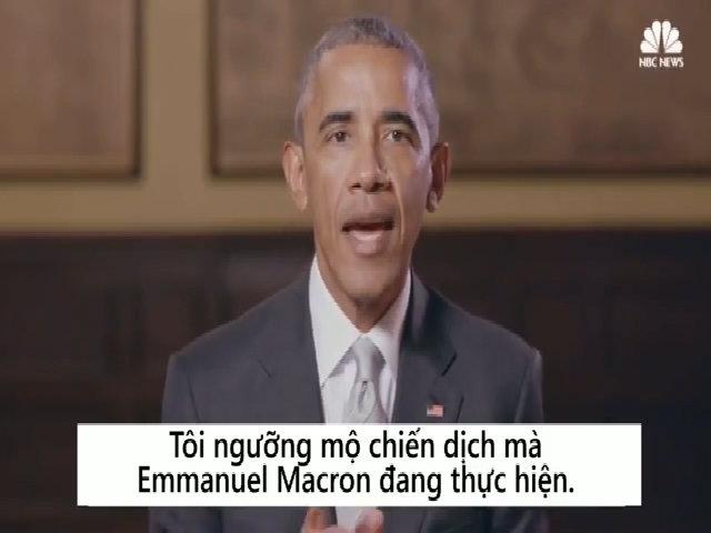 Obama ủng hộ Macron làm tổng thống Pháp