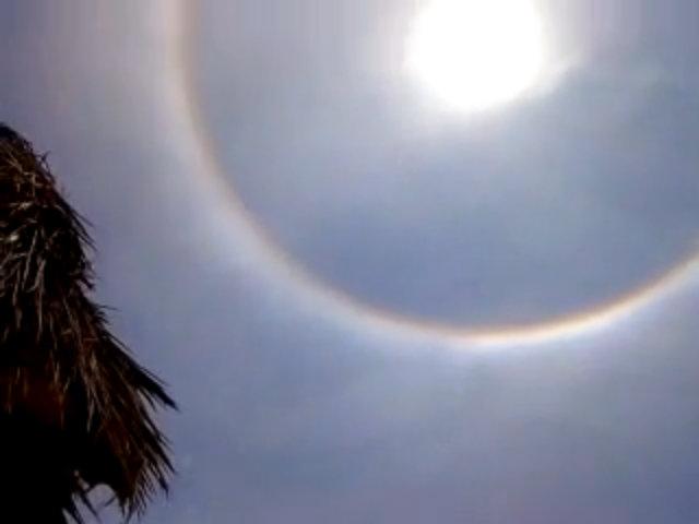 Lý giải quầng mặt trời lạ xuất hiện trên bầu trời xứ Huế