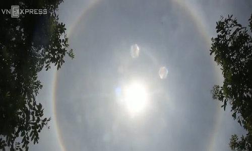 Mặt trời lạ xuất hiện ở Quảng Nam