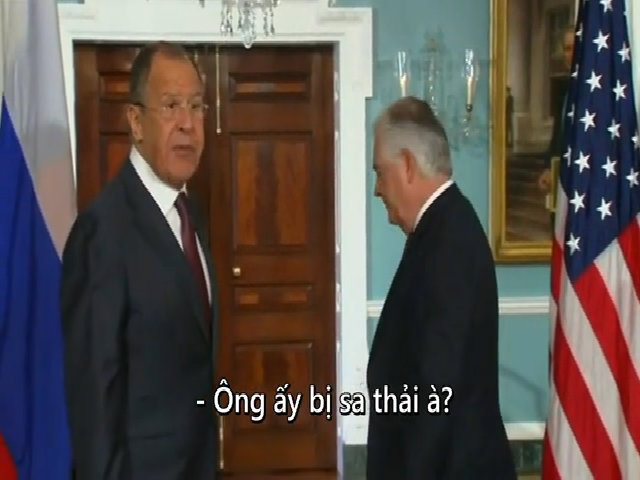 Ngoại trưởng Nga hỏi đùa về tin giám đốc FBI bị sa thải