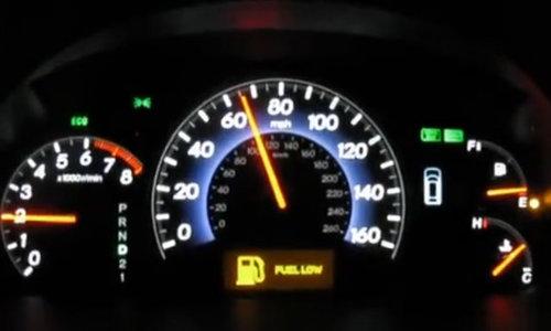 Xe sắp hết xăng