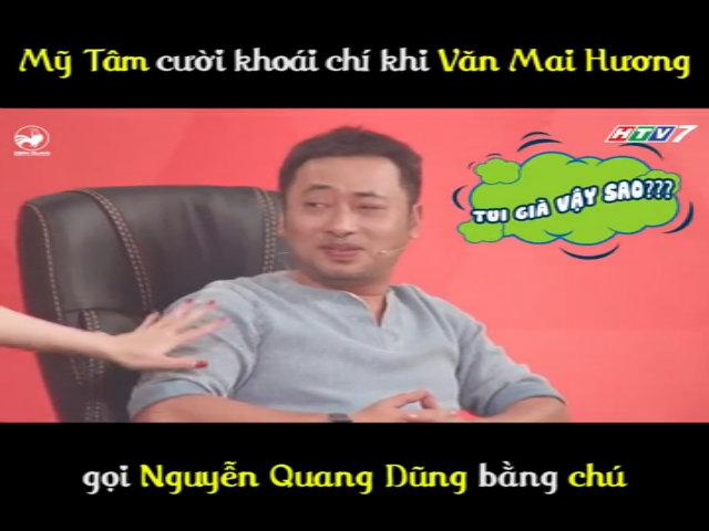 Mỹ Tâm cười khoái chí khi Văn Mai Hương gọi Quang Dũng bằng chú