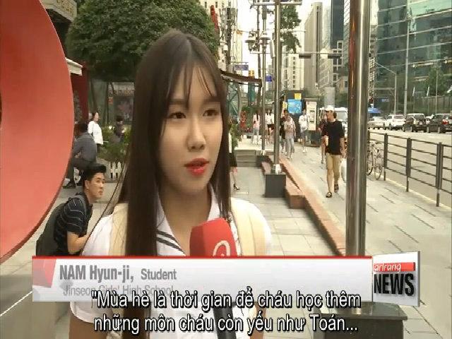 Học sinh Hàn học cả mùa hè