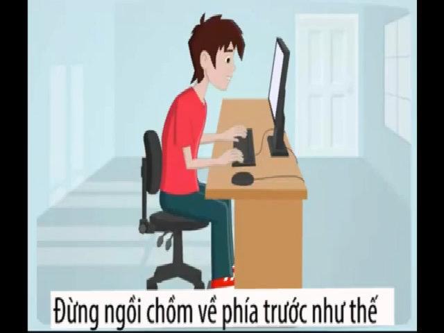 Tư thế ngồi máy tính