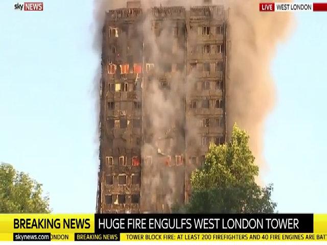 'Không báo động, không nước chữa cháy' ở chung cư tại London