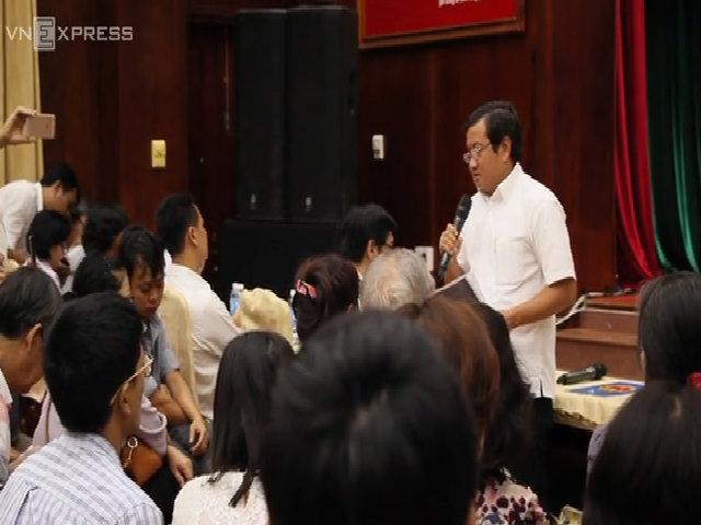 Ông Đoàn Ngọc Hải đối thoại với 1.500 dân dự án treo 20 năm