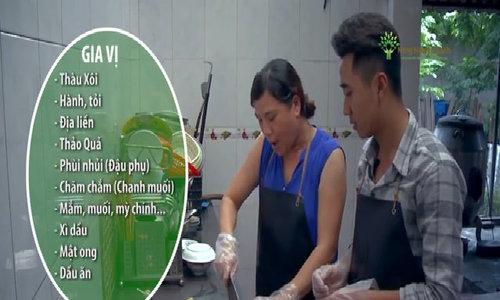 Cầu kỳ món khâu nhục 13 gia vị của Quảng Ninh