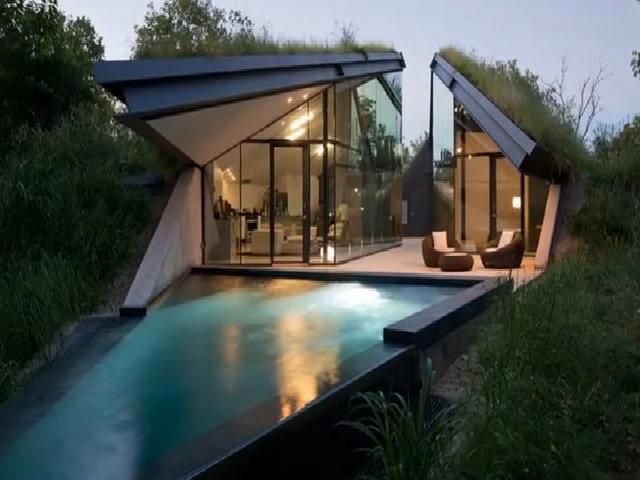Nhà dưới đồi cỏ ở Texas, Mỹ