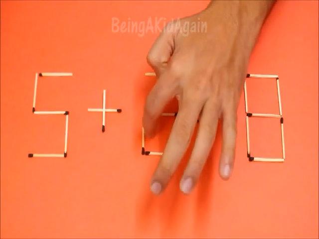 5 câu đố di chuyển que diêm