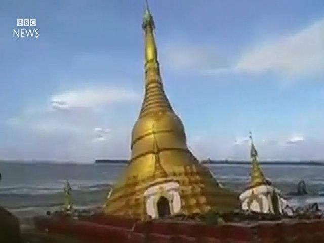 Lũ nhấn chìm chùa vàng ở Myanmar
