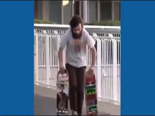 Chàng trai trả giá vì trượt ván ngay trên phố