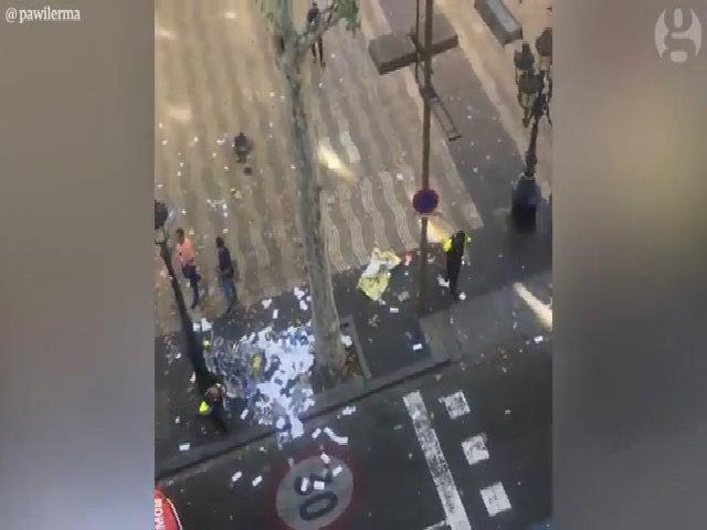 Hiện trường vụ đâm xe ở Tây Ban Nha