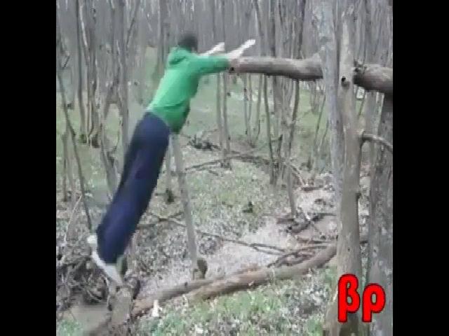 Người đàn ông ngã sấp mặt vì học đòi Tarzan