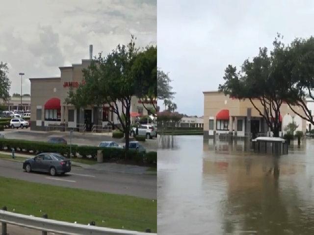 Thành phố Houston trước và sau bão Harvey