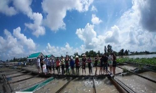 100 bè nuôi cá thát lát kết hợp du lịch sông nước ở Cần Thơ