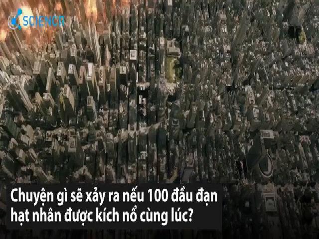 Thảm họa khi 100 đầu đạn hạt nhân được kích nổ cùng lúc