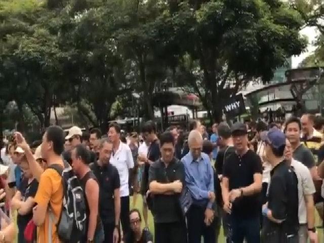 Hàng trăm người biểu tình phản đối tân Tổng thống Singapore