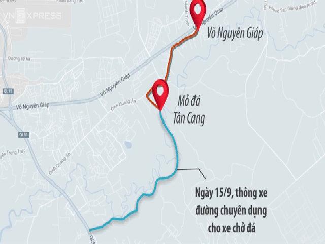 Người dân Đồng Nai hai ngày rào đường chặn xe ben chở đá