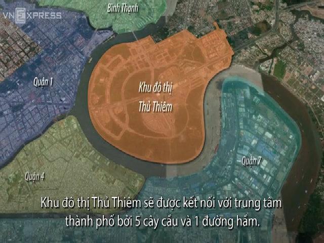 6 dự án nối Khu đô thị Thủ Thiêm với trung tâm TP HCM