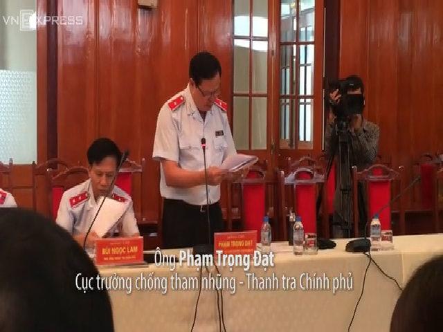 Ông Phạm Trọng Đạt công bố kết luận thanh tra