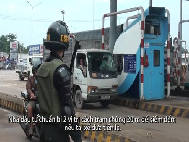 Nhiều cảnh sát được huy động bảo vệ an ninh BOT Biên Hòa