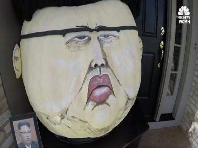 Nghệ sĩ Mỹ khắc mặt ông Kim Jong-un lên bí ngô Halloween