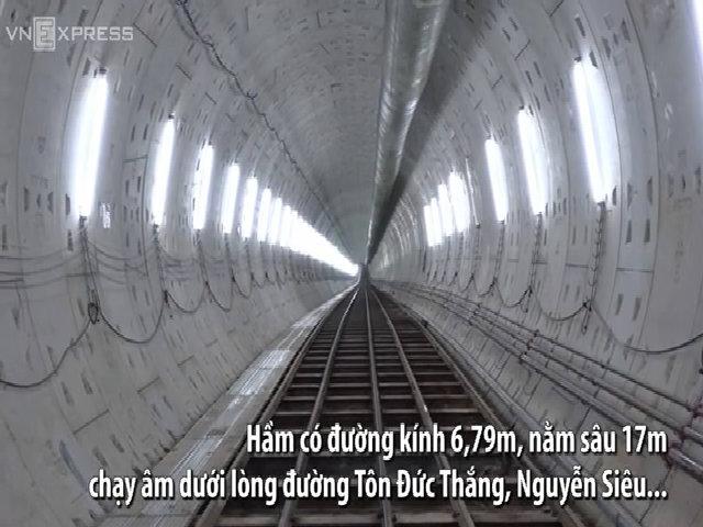Đường hầm 800m của tuyến metro Sài Gòn đã thành hình