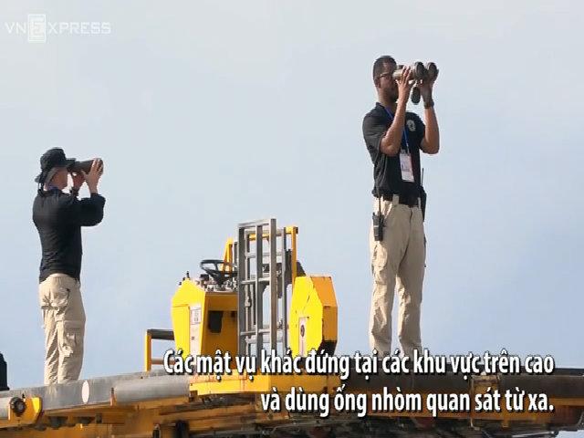Mật vụ bảo vệ Tổng thống Mỹ rời khỏi sân bay Đà Nẵng như thế nào?