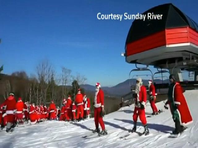Đội quân ông già Noel trượt tuyết gây quỹ 2.500 USD