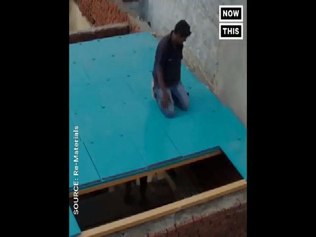 Mái nhà năng lượng Mặt Trời từ rác thải tái chế ở Ấn Độ