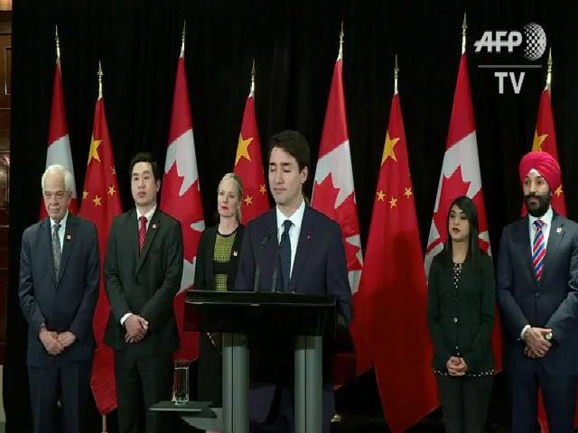 Thủ tướng Canada hài hước tại họp báo ở Trung Quốc