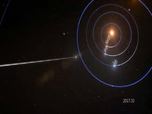 Kết quả quét vật thể liên sao nghi là tàu ngoài hành tinh