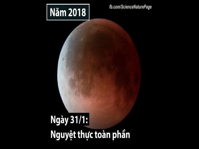 Những sự kiện thiên văn đáng chú ý nhất năm 2018 (cài mùng 1)