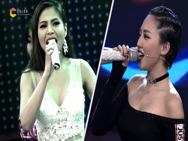 Tóc Tiên ngã quỵ trên sân khấu trước giọng hát của người đẹp