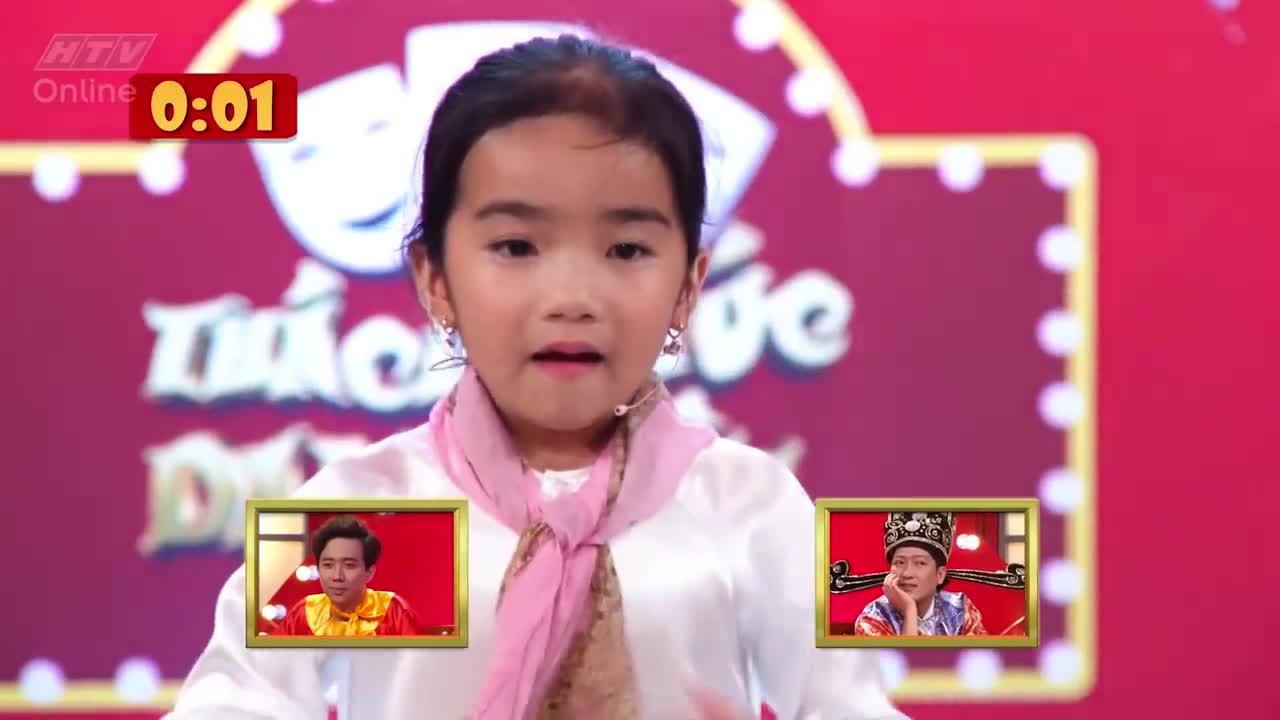 Cô bé 6 tuổi thắng 2 triệu nhờ làm 'bà ngoại' Trấn Thành, Trường Giang