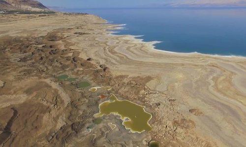 Hố đất sụt ở Biển Chết - vẻ đẹp của sự tàn phá