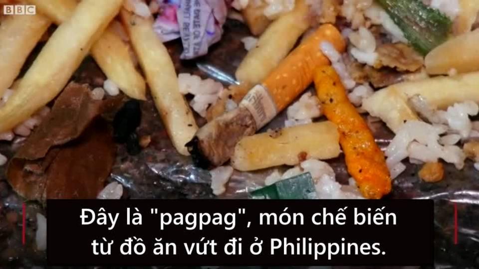 Từ bãi rác tới bữa cơm người nghèo của túi thịt bỏ đi tại Philippines