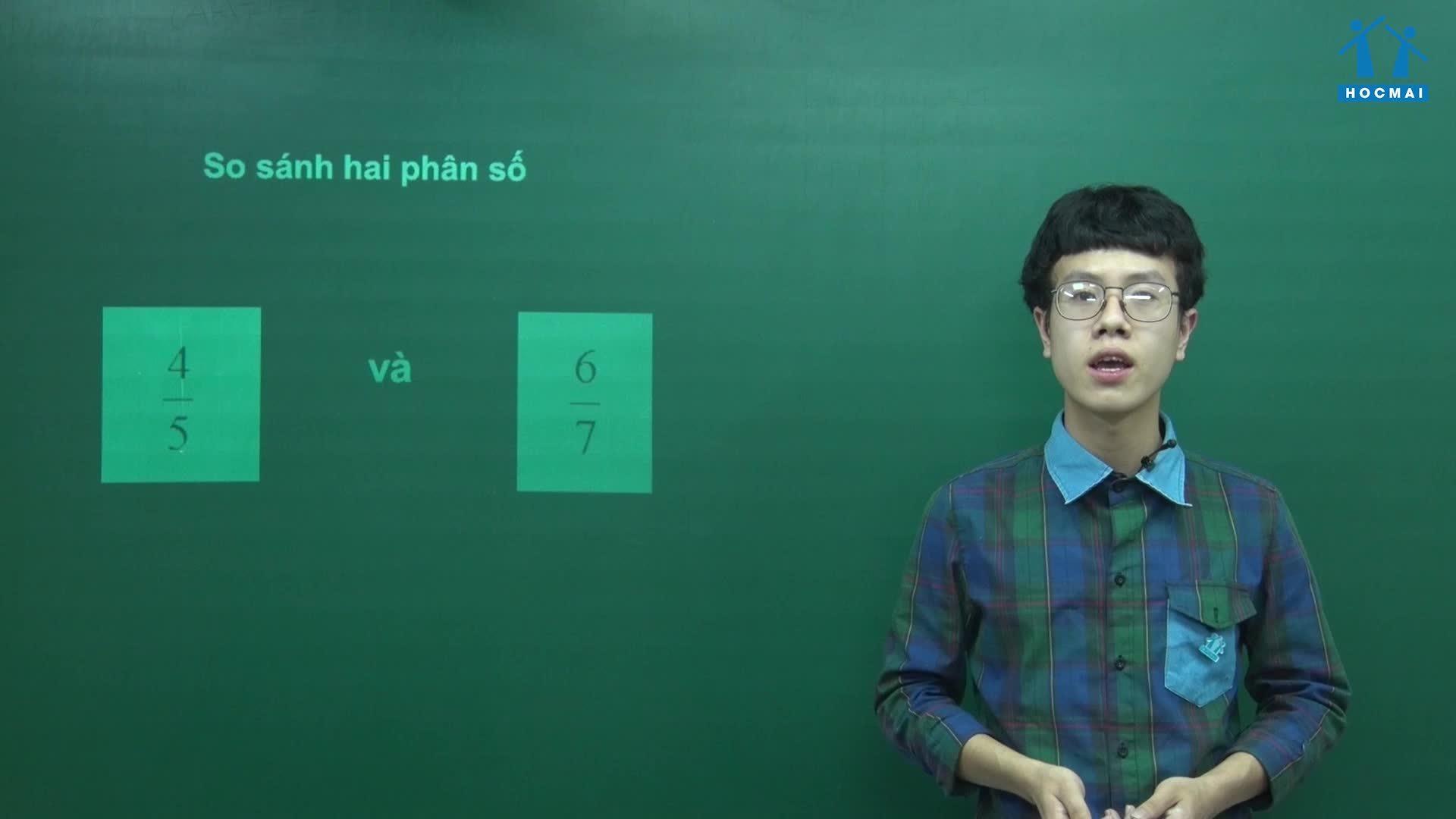 Cách so sánh hai phân số thường gặp trong toán lớp 4