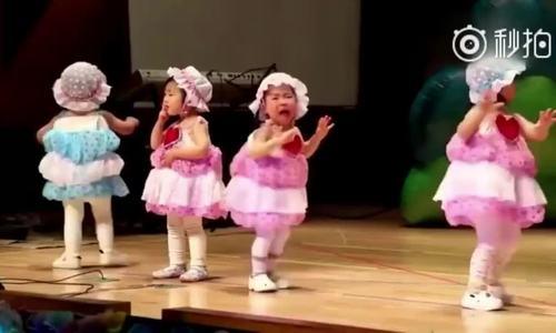 Bé gái vừa múa vừa khóc nức nở khiến người xem bật cười