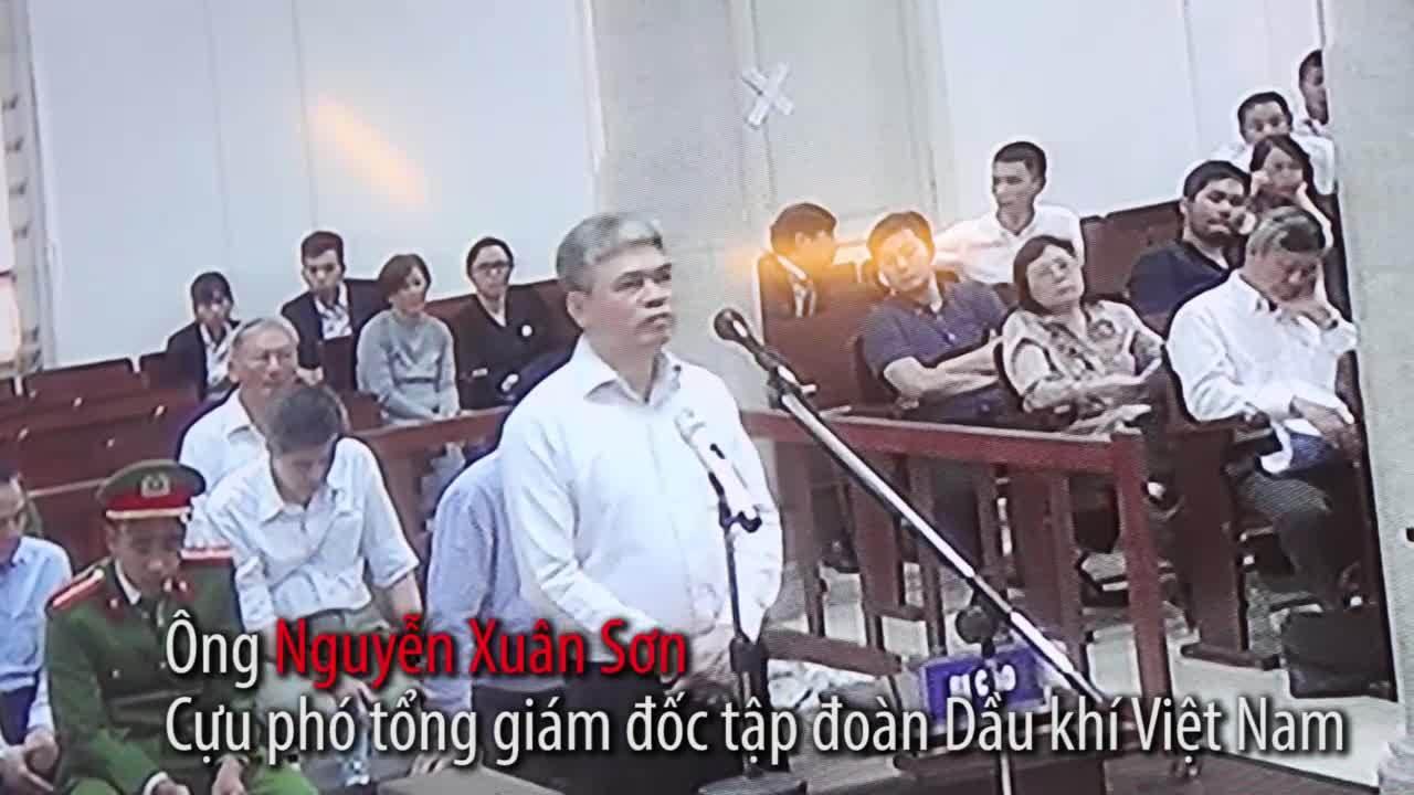 Nguyễn Xuân Sơn tại tòa chiều 19/3