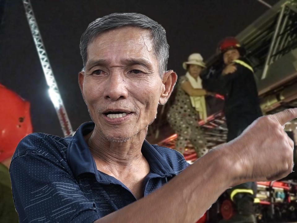 Người đàn ông cứu bé trai trong vụ cháy chung cư Carina