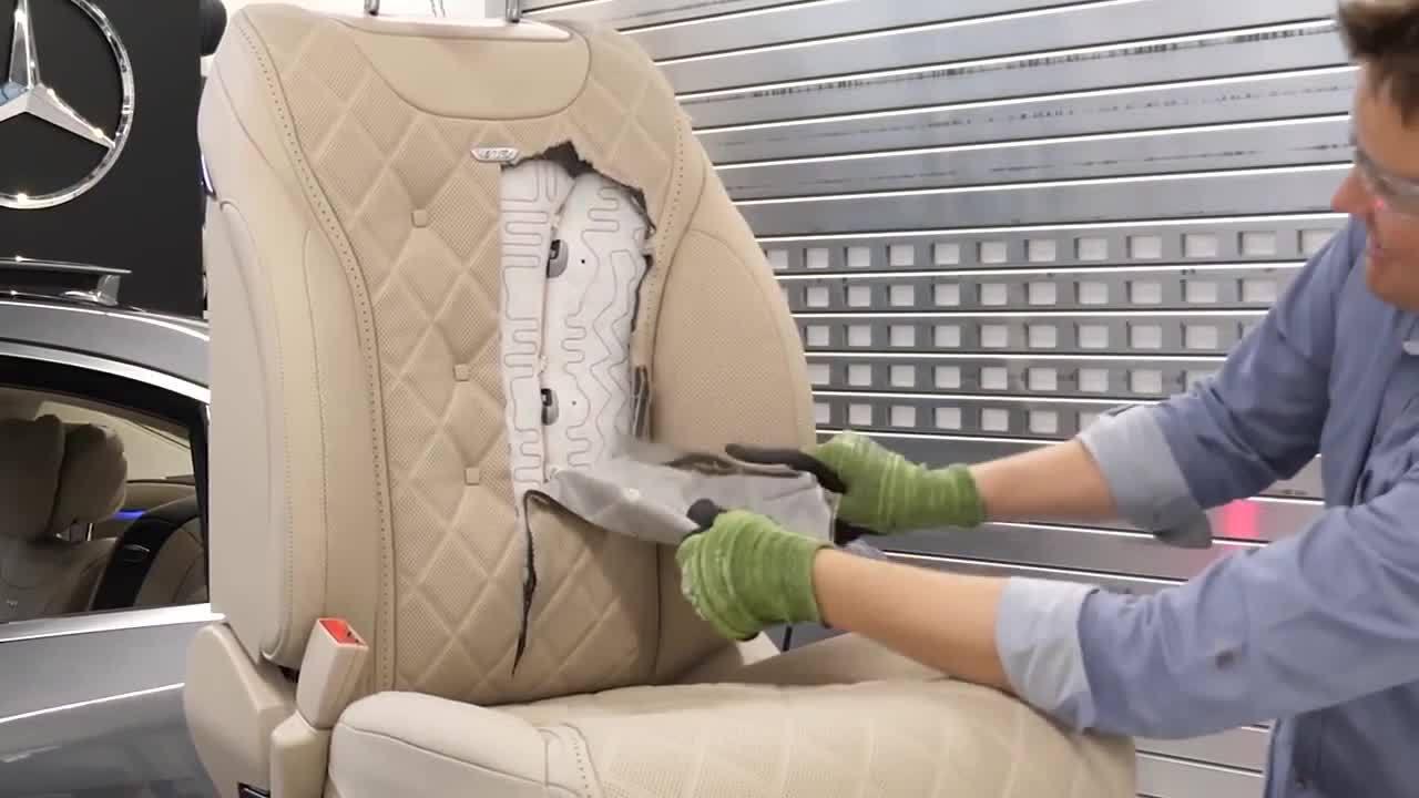 Thứ gì nằm bên trong ghế xe Mercedes S-class massage đá nóng