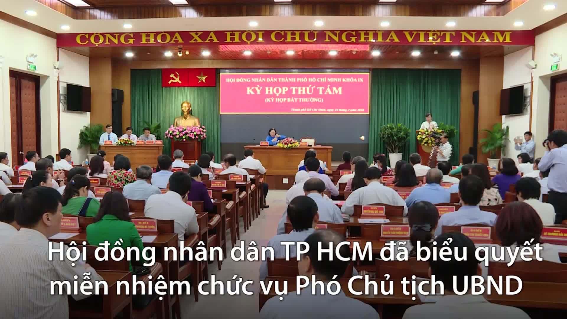 TP HCM chính thức miễn nhiệm Phó chủ tịch Lê Văn Khoa