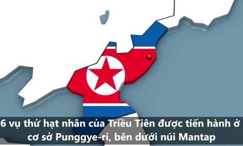 Khu vực thử hạt nhân của Triều Tiên có thể đã sụp đổ