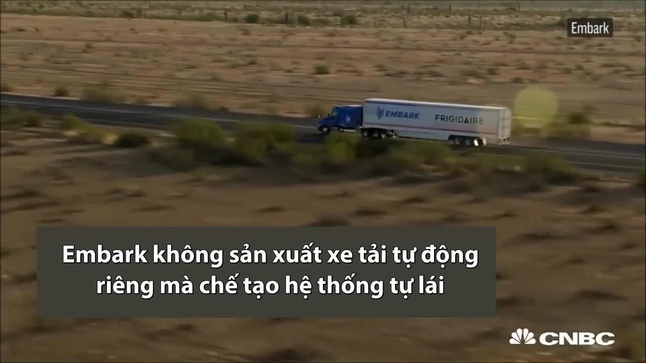 Xe tải tự lái vượt quãng đường gần 3.900 km