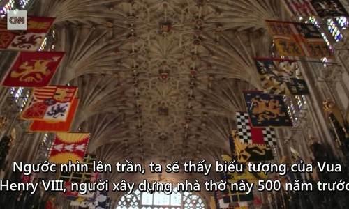 Bên trong nhà nguyện diễn ra hôn lễ của Hoàng tử Harry