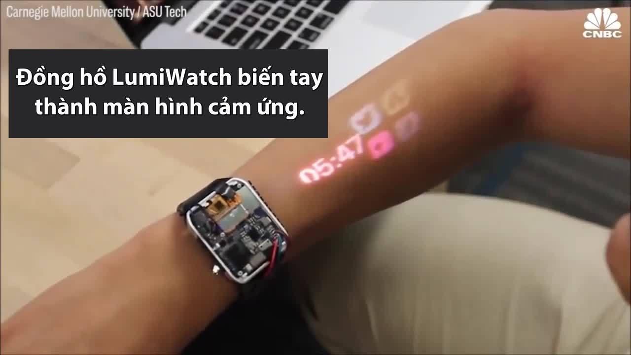 Đồng hồ biến tay người thành màn hình cảm ứng