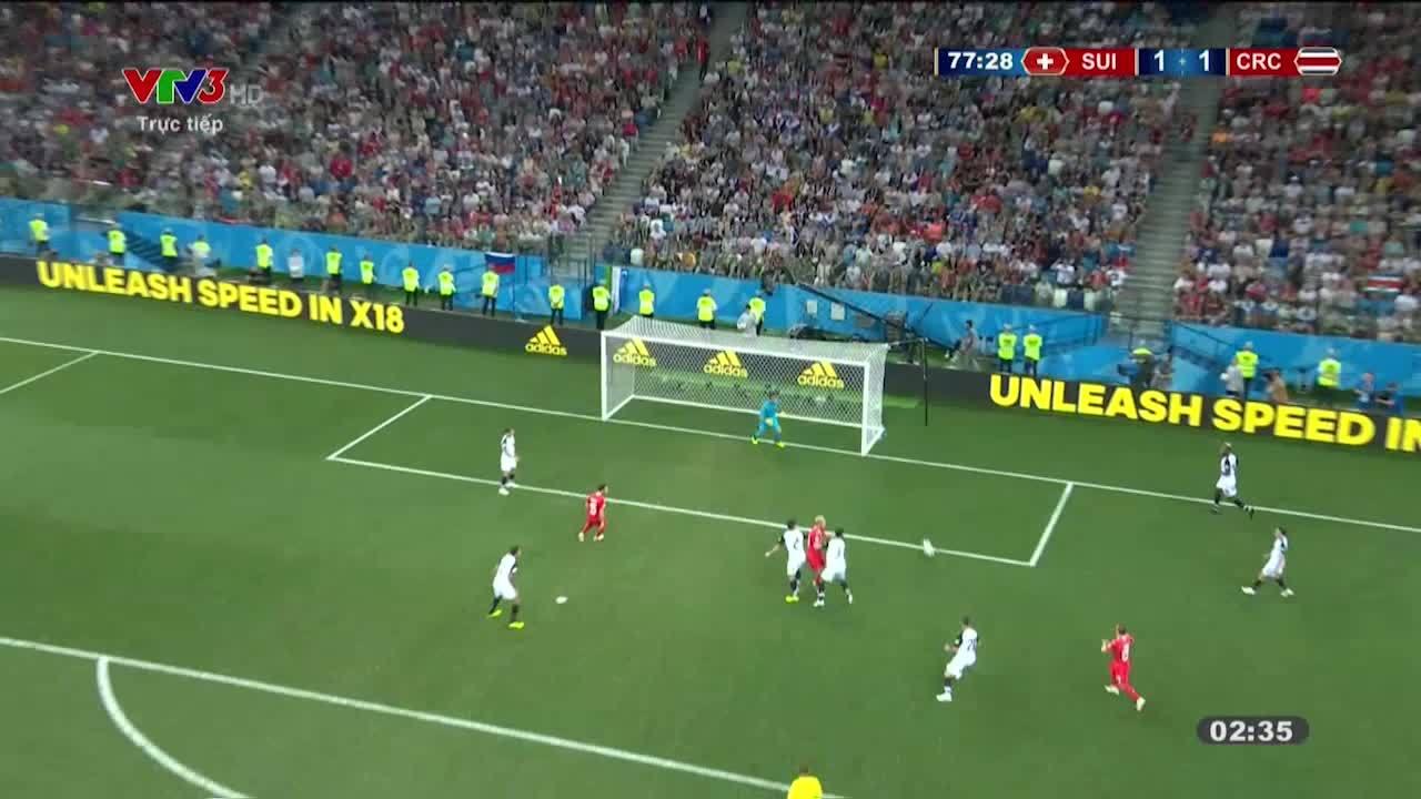 Thụy Sỹ 2-2 Costa Rica