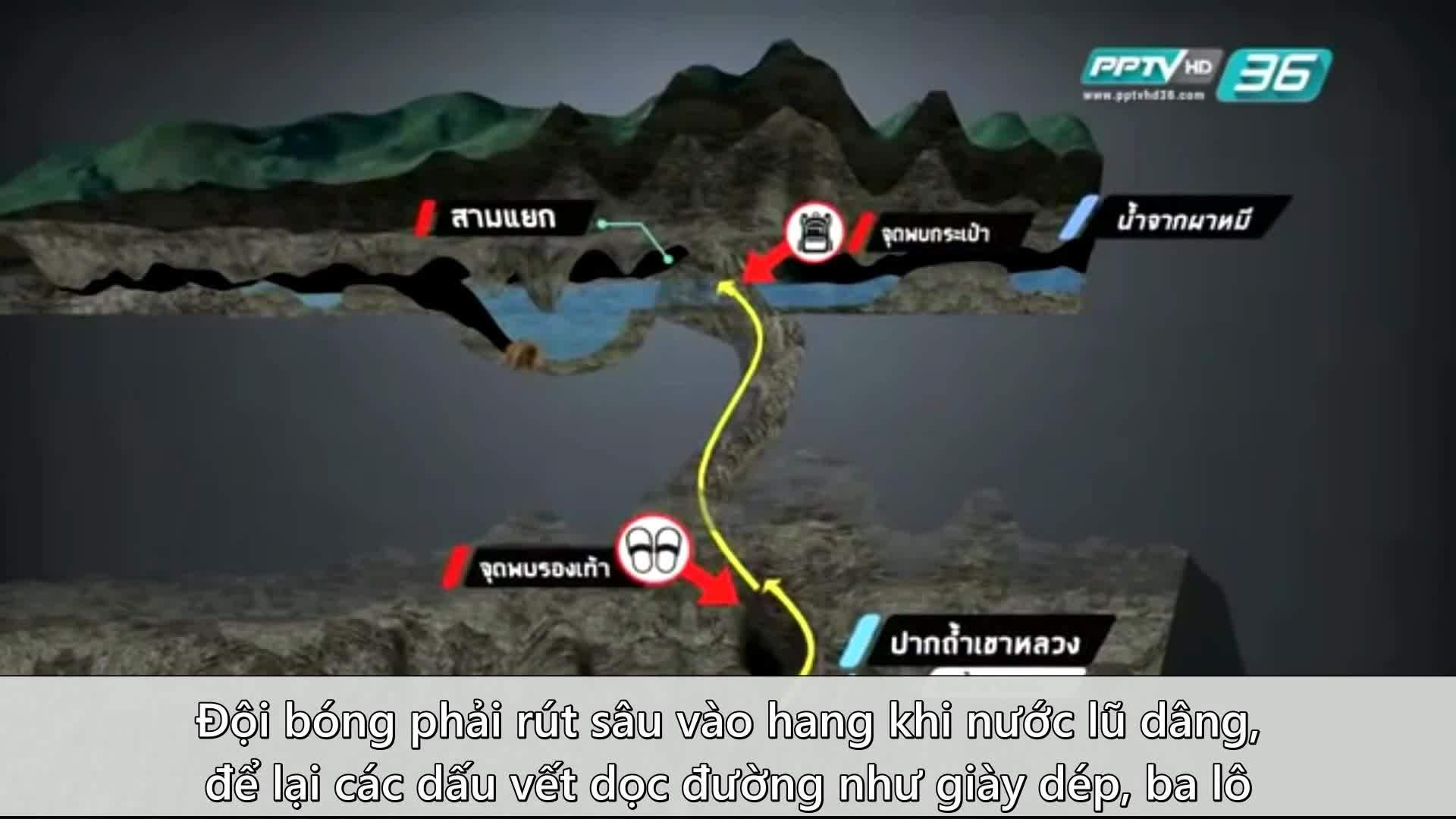 Hành trình giải cứu đội bóng nhí Thái Lan khỏi hang ngập nước