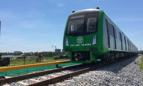 Băt đầu chạy thử nghiệm tàu đường sắt Cát Linh - Hà Đông